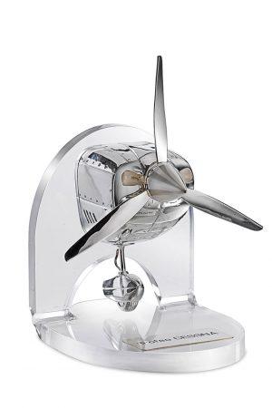 Trofeo modellino aereo ottone fuso argento targhetta incisa e smaltata Center Tecnica