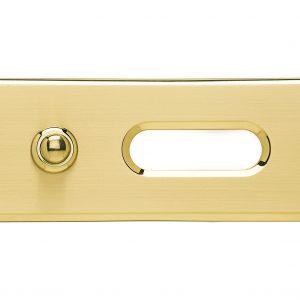 Campanello ottone satinato con taglio lucido pulsante ottone e asola lucida con opalino Center Tecnica